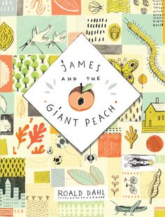 james & the giant peach book cover design by julianna brion Book Cover Art, Book Cover Design, Book Design, Book Art, James And Giant Peach, Roald Dahl Books, Design Editorial, Beautiful Book Covers, You Draw