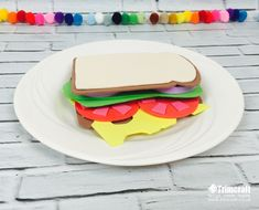 Make this yummy foam sandwich with our kids craft tutorial and free printable template.