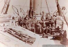 Fotografías Históricas de La Guerra del Pacifico 1879 _ 1884 Oficiales de la Magallanes.