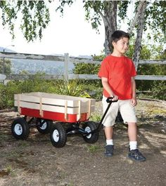 All Terrain Steel Wood Wagon with Extra Large Air Tires Similar to Radio Flyer | eBay