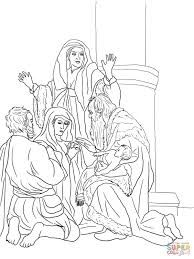 Simeon And Anna Recognize The Lord In Jesus Coloring Page From Nativity Category Select 26690 Printable Crafts Of Cartoons Nature Animals