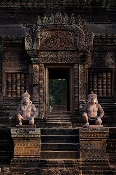 Banteay Srey, is a 10th century Cambodian temple dedicated to the Hindu god Shiva. Located in the area of Angkor in Cambodia