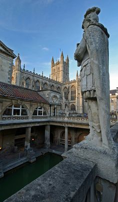 Bath's Roman Baths, England. I went here with my sis, they wanted us to taste the bath water :/ no thanks.