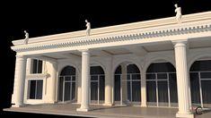 Terasa salon nunti fereastra cu arcada Venus, Palace, Pergola, Exterior, Outdoor Structures, Restaurant, Design, Home, Outdoor Pergola