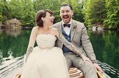 vintage-southern-wedding #brideswithtattoos