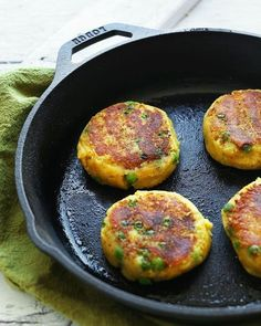 Baked Green Pea Fritters (Vegan + GF) - Wallflower Kitchen