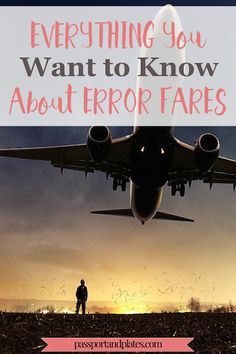 Wondering what in the world an error fare is and how it can help you save money? CLICK to read and to learn everything you want to know about error fares and start saving money today! | http://passportandplates.com