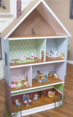 Simple Wood Doll House Plans Plans DIY Free Download log ...
