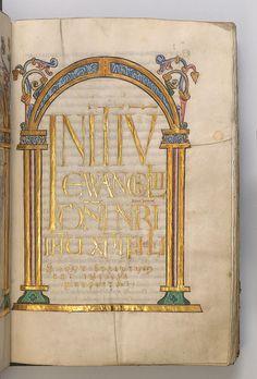 Gospels, Latin, Judith of Flanders gospels, England, Carolingian, Morgan Library, 11th Century, Initials, Bible, Frame, Ms, Books, Museum