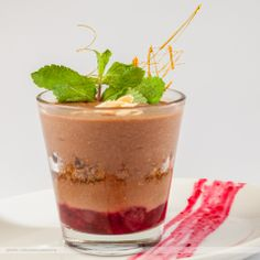 chocolate mousse with fruits  www.cafecorso.ro