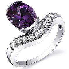 Promise Rings Simple | Channel Set 275 carats Simulated Alexandrite Ring in Sterling Silver Rhodium Nickel Finish Size 9 *** Read more  at the image link. Note:It is Affiliate Link to Amazon. #PromiseRingsForHer