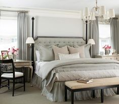 Classic Chic Home: Bedrooms Designed with Serenity in Mind