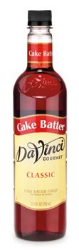 CLASSIC CAKE BATTER SYRUP: Turn any menu item into an indulgent experiece with this timeless dessert syrup. Sweet, buttery cake batter flavor. #davinci #gourmet #kerry #foodservice