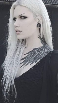 Gothic Girls, Hot Goth Girls, Wicked Tattoos, Sexy Tattoos, Girl Tattoos, Gothic Tattoo, Dark Tattoo, Goth Beauty, Dark Beauty