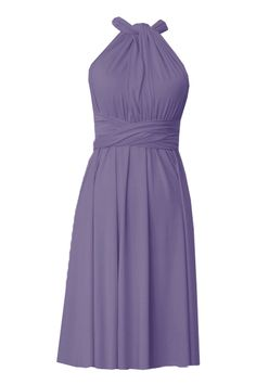 6254c5f8bf Infinity bridesmaids dress Dusty purple convertible knee length dress Plus  size prom evening formal dress