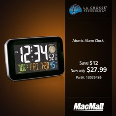 Save 30% on a multi-color atomic alarm clock with USB charger at MacMall.