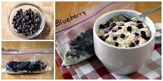 DIY Blueberry Instant Oatmeal Packets (for hot or refrigerator oatmeal)... To the basic oatmeal mix, add 2 T. dried or 1/4 cup  freeze-dried blueberries.