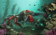 This guy has some issues with rocks and aggression. And you might need to deal with it in Subnautica… http://unknownworlds.com/subnautica/subnautica-rock-puncher-concept-art/