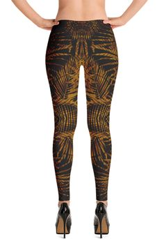 COSMOTEE - Tropical Gold - Print Leggings