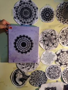 Mandalas by Mar Tattoo Zentangle, Plates, Tattoos, Tableware, Mandalas, Licence Plates, Dishes, Tatuajes, Dinnerware