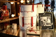 Produced by Bureau Betak, the event paid homage to Ferragamo's Hollywood heritage and turned Industria Superstudio into Gancio Studios, which was replete with various installations modeled after a film set. More than 200 customized products featured the Ferragamo logo, including scripts, film reels, hat boxes, and beach towels.