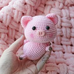 Piggy Handmade toy Pig Interior toy Pink pig Knitting to order Cute toy Amigurumi Handmade gift CuteThese sweet little pigs amigurumi will definitly make you smile. Create your own cute pig with a free crochet pattern, using a cotton or an acrylic yarn. Crochet Pig, Crochet Motifs, Crochet Patterns Amigurumi, Diy Crochet, Crochet Dolls, Crochet Unique, Crochet Simple, Amigurumi Giraffe, Amigurumi Doll