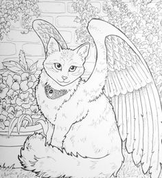 The Winged Cat Adult Coloring Book