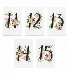 Brand: Rifle Paper Co.Designer: Anna BondDetails: Pack of Botanical Table Numbers 11 - single sided, one of each number. Table Numbers are 10 cm x cm.These table numbers are designed and produced in the U. Wedding Plates, Wedding Day Inspiration, Rifle Paper Co, Table Cards, Table Numbers, House Numbers, Fabric Painting, Decorative Accessories, Wedding Invitations