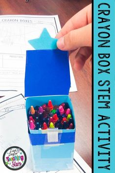 Use this fun and easy STEM Activity at the beginning of the school year to get your students excited about learning. This product will engage your students  as they design and construct a crayon box that can really hold crayons. (third, fourth, fifth graders, Grade 3,4,5)