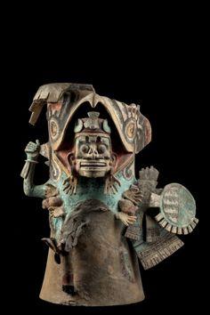 Coatlicue?  Brasero de guerrero muerto, Posclásico tardío (1250-1521).