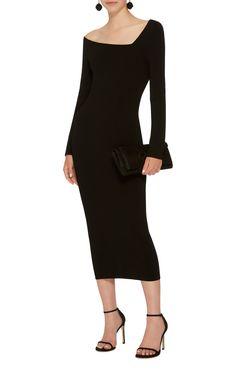 Off-The-Shoulder Midi Dress by OSCAR DE LA RENTA Now Available on Moda Operandi