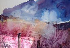 Crow on post by Sonya Tatham watercolour