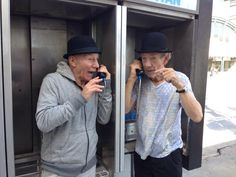 Where did they find not one but two working pay phones?