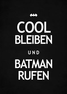 "彡Art Print | batman rufen von claus-peter-2 // print ""Call Batman"" by claus-peter-2  Hehe..."