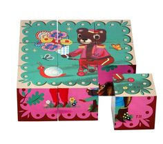 Kitsch Kitchen puzzel blokken animal friends 2 jr+