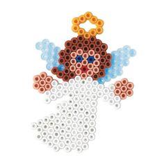 Engle, pynt til jul og nytår, 1100 HAMA midi perler Melty Bead Patterns, Pearler Bead Patterns, Perler Patterns, Beading Patterns, Perler Bead Templates, Diy Perler Beads, Perler Bead Art, Bead Crafts, Diy And Crafts