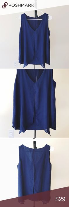 Layered Chiffon V Neck Blouse In perfect condition, with no wear, tears, or stains. Ann Taylor Tops Blouses