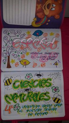 Ideas para marcar los cuadernos Cute Journals, Cute Notebooks, Caligraphy Alphabet, Bullet Art, Notebook Art, Decorate Notebook, Lettering Styles, Dragon Ball Z, Graffiti