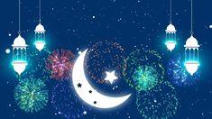 Eid Mubarak islamic design crescent moon and arabic calligraphy - Buy this stock illustration and explore similar illustrations at Adobe Stock Hari Raya Wishes, Eid Mubarak, Stock Footage, Islamic, Adobe, Arabic Calligraphy, Moon, Concept, Design Ideas