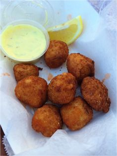 Deep Fried Scallops at County Game in Seafood Scallops, Sea Scallops, Fish And Seafood, Shellfish Recipes, Seafood Recipes, Deep Fried Scallops Recipe, Scallop Recipes, Fried Fish, Fries