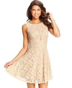 Speechless Juniors' Lace Dress  | macys.com