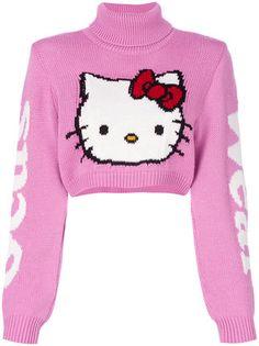 Designer Knitwear & Sweaters For Women Hello Kitty Clothes, Hello Kitty Shoes, Hello Kitty Dress, Hello Kitty Things, Pink Hello Kitty, Hippie Grunge, 90s Grunge, Pink Jumper, White Jumper
