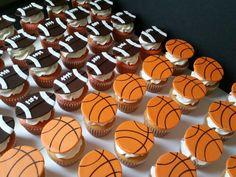 Football and Basketball Cupcakes