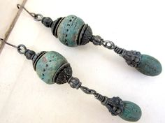Waiting for my Miracle. dangle beaded earrings boho assemblage by beatnheart - Cynthia Wolff