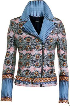 ShopStyle: Suno Floral Zip Jacket
