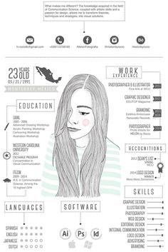 Best Creative Resume Design Infographics Best collection of resume designs 2015 for all. Examples of CV and curriculum vitae samples for all freshers and experienced. Cv Inspiration, Graphic Design Inspiration, Behance Illustration, Conception Cv, Cv Curriculum Vitae, Visual Resume, Infographic Resume, Infographic Examples, Creative Infographic