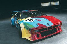 Andy Warhol was commissioned to paint this 1979 M1 for the famed 24 hours at Le Mans. The car was driven to a second place finish by Manfred Winkelhock, Marcel Mignot and the creator of the BMW Art Car program, Hevré Poulain.