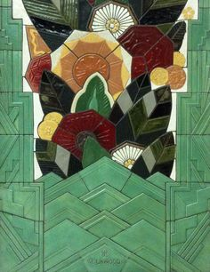 Rookwood tile in Carew Tower, Cincinnati