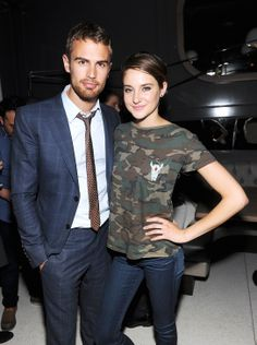 Theo & Shailene at Divergent premiere after party.