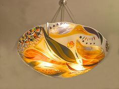 Bonnie Rubinstein Studio designs elegant fused glass art and metal sculptures for sale near Minneapolis-St. Contact our artist today for more info. Glass Light Fixtures, Glass Pendant Light, Glass Chandelier, Unique Chandelier, Glass Lamps, Pendant Lights, Chandelier Lighting, Chandeliers, Broken Glass Art
